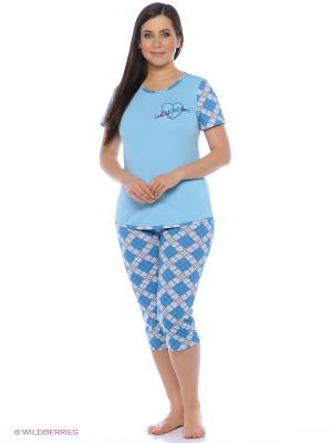 Пижама SOFT SECRET. Цвет: голубой