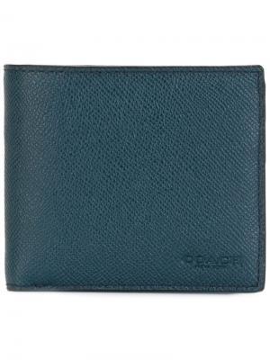 Складной бумажник Coach. Цвет: синий