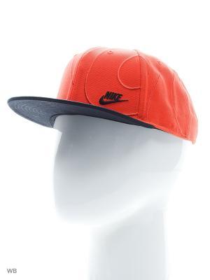 Бейсболка U NSW TRUE CAP BLUE LBL KASHI Nike. Цвет: оранжевый