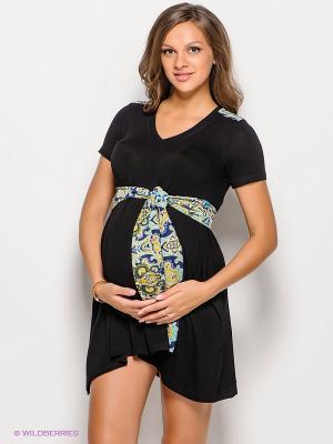 Платье для беременных 40 недель 30380/черный