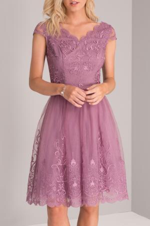 Платье CHI LONDON. Цвет: purple