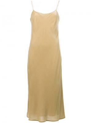 Платье на бретельках Vince. Цвет: телесный