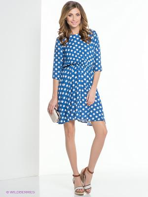 Платье ELENA FEDEL. Цвет: голубой, белый