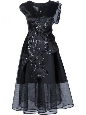 Пышное многослойное платье Xiao Li. Цвет: чёрный