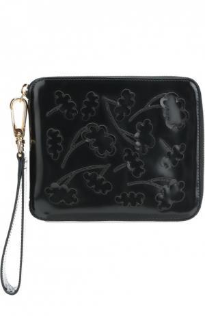 Клатч из лаковой кожи с аппликациями Simone Rocha. Цвет: черный
