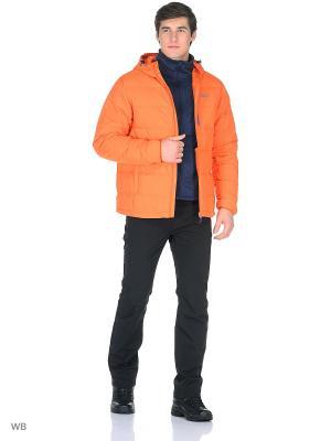 Пуховик Trespass. Цвет: оранжевый