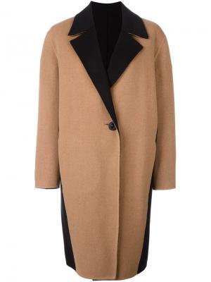 Пальто с панельным дизайном Fausto Puglisi. Цвет: коричневый