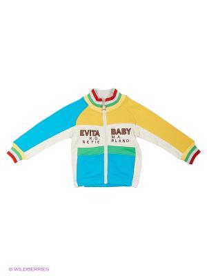 Толстовка Evita Baby. Цвет: бирюзовый