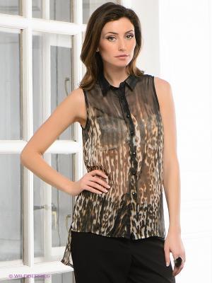 Блузка Vero moda. Цвет: черный, коричневый, молочный