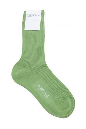 Кашемировые носки с шелком 142865 Bresciani. Цвет: зеленый