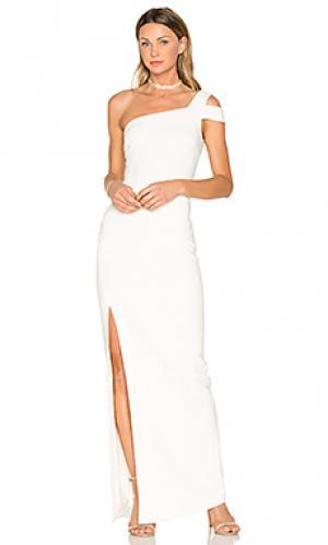 Вечернее платье maxson LIKELY. Цвет: белый