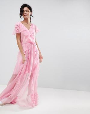2nd Day 2NDDAY Ruffle Maxi Dress. Цвет: розовый