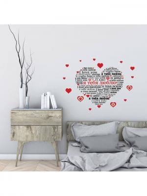 Наклейка для декора А М Дизайн. Цвет: черный, красный