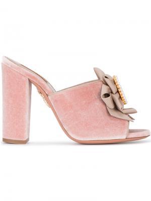 Мюли Cameo 105 Aquazzura. Цвет: розовый и фиолетовый