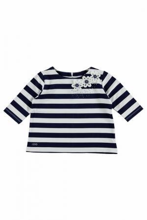 Блуза IDO. Цвет: белый, синий