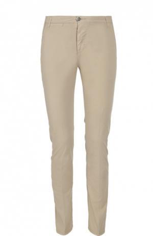 Слаксы из эластичного хлопка 2 Men Jeans. Цвет: бежевый
