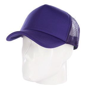 Бейсболка с сеткой  Basic Trucker Purple TrueSpin. Цвет: фиолетовый