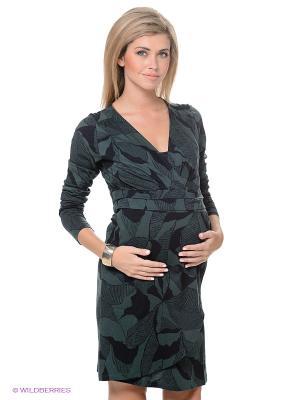 Платье ESPRIT. Цвет: темно-синий, зеленый