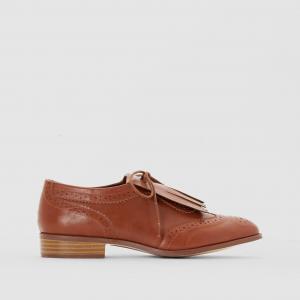 Ботинки-дерби с мексиканской планкой R édition. Цвет: темно-бежевый,черный