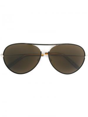 Солнцезащитные очки 1220 Cutler & Gross. Цвет: чёрный