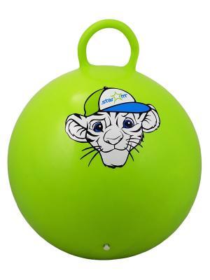 Мяч-попрыгун STAR FIT GB-402 55 см Тигренок, с ручкой, зеленый Starfit. Цвет: зеленый