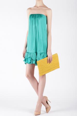 Шелковое платье Jay Ahr. Цвет: бирюзовый, морская волна