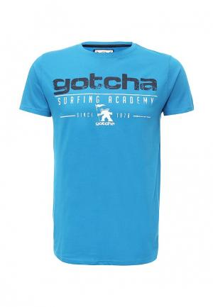 Футболка Gotcha. Цвет: голубой