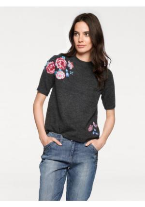 Пуловер LINEA TESINI by Heine. Цвет: темно-серый