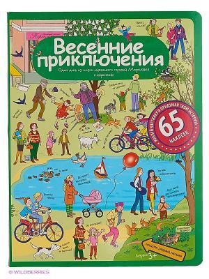 Рассказы по картинкам с наклейками. Весенние приключения АЙРИС-пресс. Цвет: зеленый