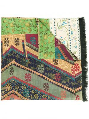 Contrast pattern scarf Pierre-Louis Mascia. Цвет: многоцветный