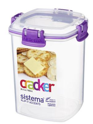 Контейнер для крекеров 900мл Sistema. Цвет: фиолетовый