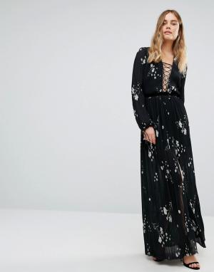 Bec & Bridge Платье Elderflower. Цвет: темно-синий