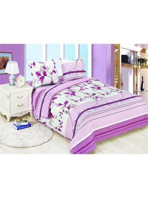 Постельное белье Muza Семейный Amore Mio. Цвет: бежевый, розовый
