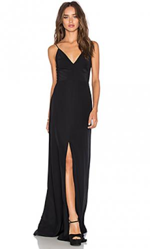Макси платье trixie Amanda Uprichard. Цвет: черный