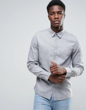 Waven Серая рубашка. Цвет: серый