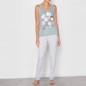 Пижама Snoopy. Цвет: серый/в полоску