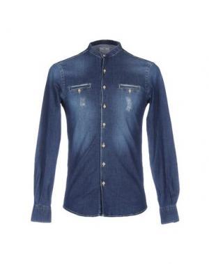 Джинсовая рубашка HAMAKI-HO. Цвет: синий