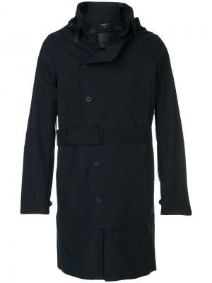 Приталенное пальто на пуговицах Norwegian Rain. Цвет: синий
