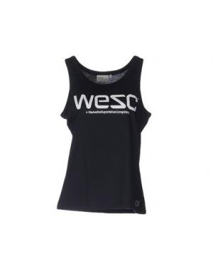 Майка WESC. Цвет: темно-синий