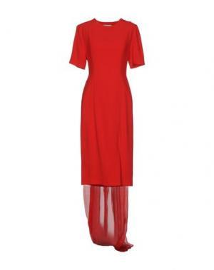 Платье до колена DANIELE CARLOTTA. Цвет: красный