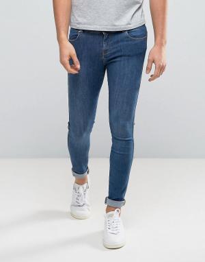 Dr Denim Синие обтягивающие джинсы Dixy. Цвет: синий