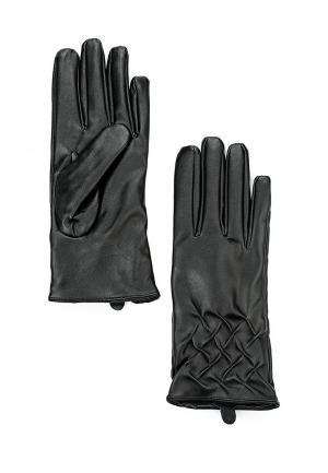 Перчатки Piazza Italia. Цвет: черный