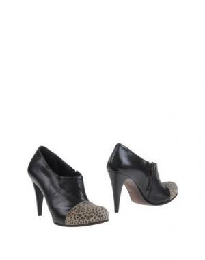 Ботинки EMANUELA PASSERI. Цвет: темно-коричневый