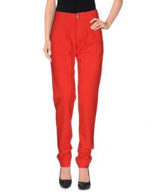 Повседневные брюки PRAIO. Цвет: красный