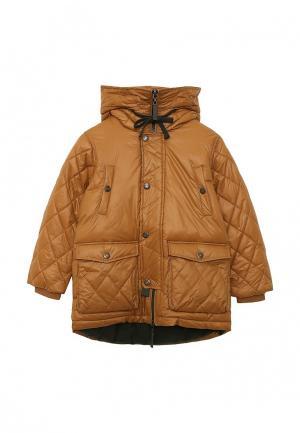 Куртка утепленная Gulliver. Цвет: коричневый