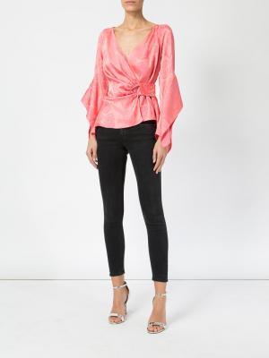 Блузка с запахом Peter Pilotto. Цвет: розовый и фиолетовый