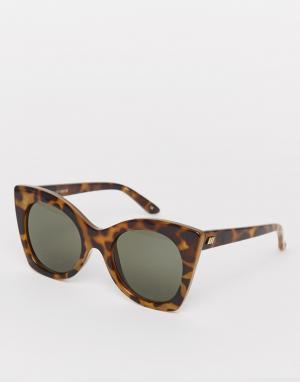 Le Specs Большие солнцезащитные очки в черепаховой оправе Savanna