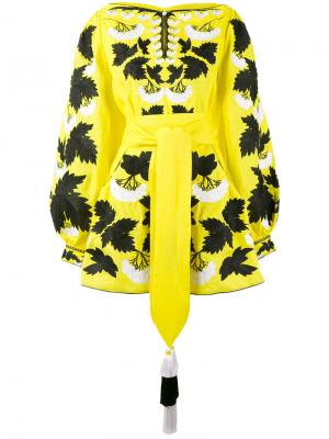 Платье Kalyna Yuliya Magdych. Цвет: жёлтый и оранжевый