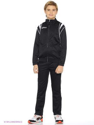 Костюм (куртка+брюки) SUIT DERBY JR ASICS. Цвет: черный