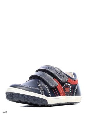Ботинки Flamingo. Цвет: темно-синий, красный